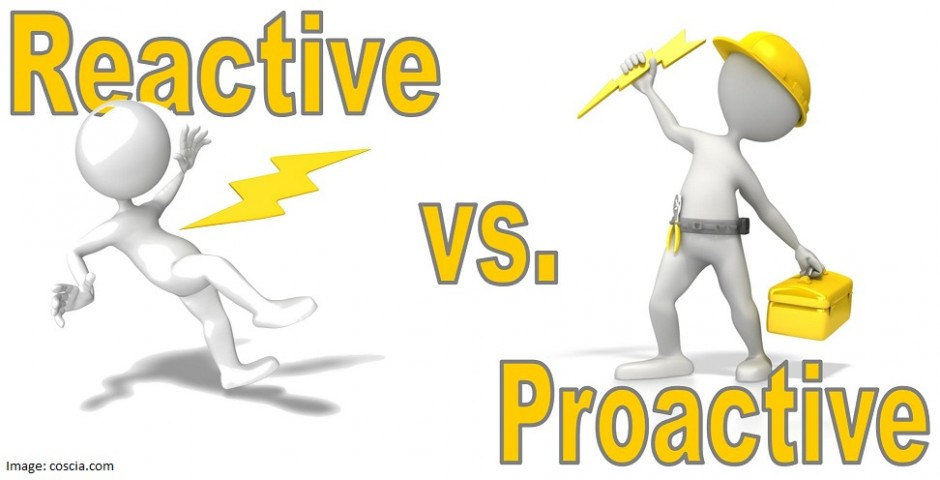 social construction proactive vs reactive Social services a proactive approach focuses on eliminating problems before they have a chance to appear and a reactive approach is based on responding to events after they have happened some of the most well-known examples of the difference between a proactive and reactive approach.